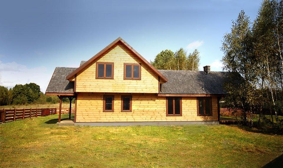 Projekt domu w konstrukcji szkieletowej - widok 1 (zdjęcie) wykonawca www.domyefin.pl