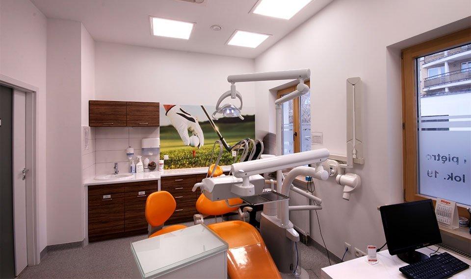Projekt wnętrza gabinetu stomatologicznego - gabinet pojedyńczy widok 1 (zdjęcie)