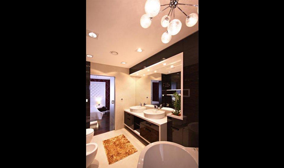 Projekt wnętrza - łazienka przy sypialnia widok 1 (zdjęcie)