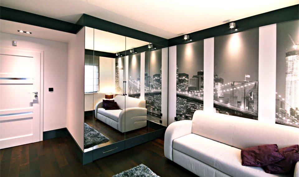 Projekt wnętrza - pokój gościnny widok1 (zdjęcie)