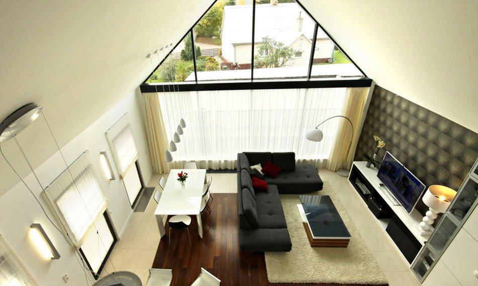 Projekt wnętrza - salon widok z góry (zdjęcie)