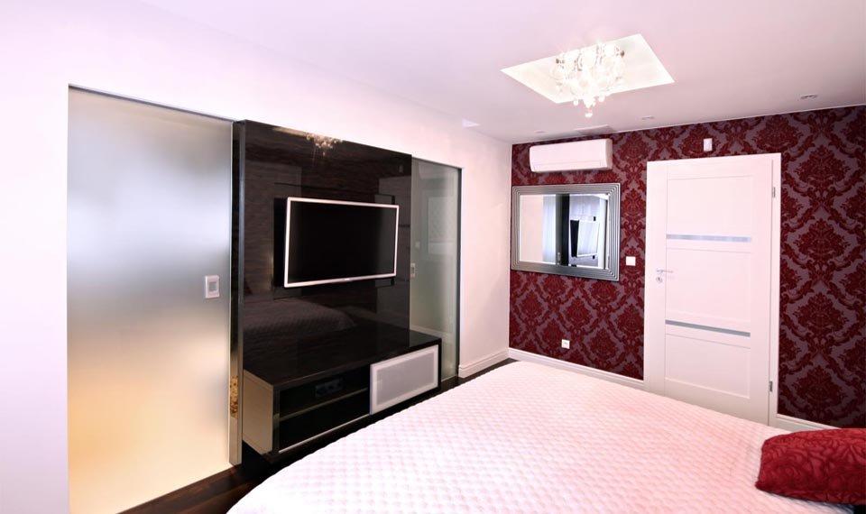 Projekt wnętrza - sypialnia widok 1 (zdjęcie)