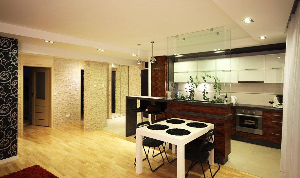 Projekt wnętrza kuchni jadalni widok 1 (zdjęcie)