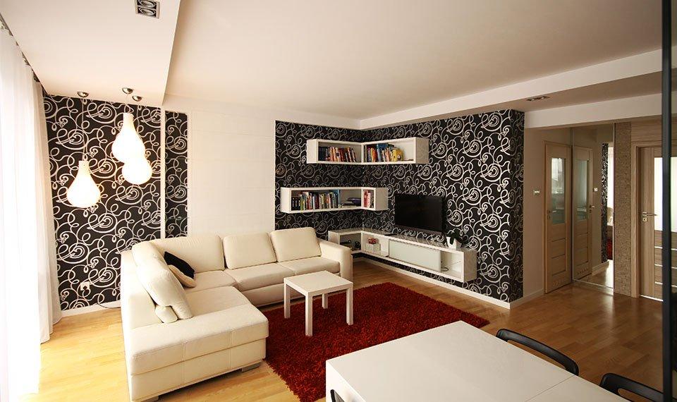 Projekt wnętrza salonu widok 1 (zdjęcie)