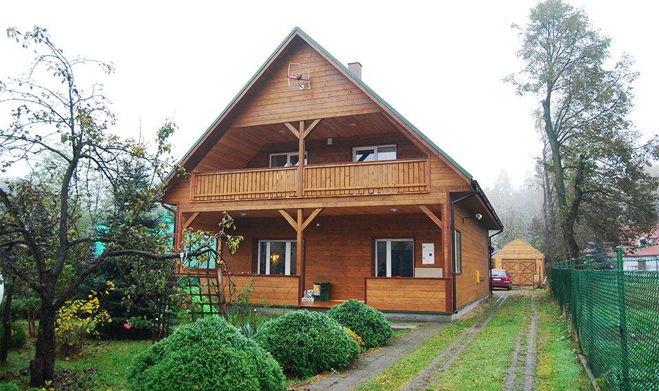Realizacja projektu - budynek po rozbudowie widok od frontu (zdjęcia) wykonawca EFIN www.domyefin.pl