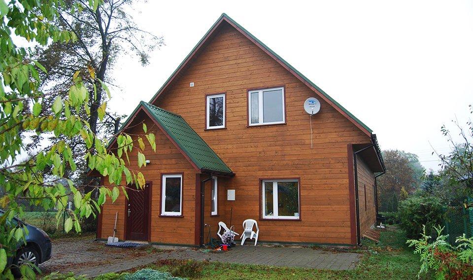 Realizacja projektu - budynek po rozbudowie widok od strony ogrodu (zdjęcia)  wykonawca EFIN www.domyefin.pl