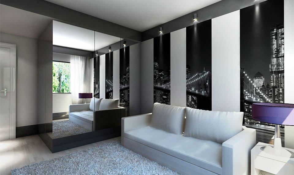 Wizualizacja 3d wnętrza – pokój gościnny