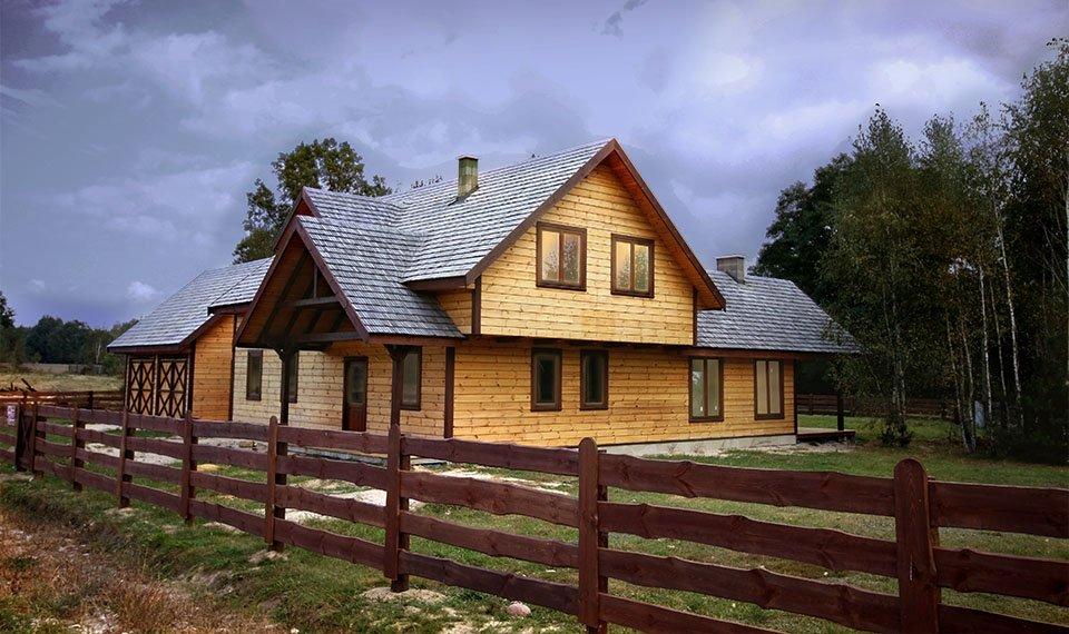 Projekt domu w konstrukcji szkieletowej - widok 2 (zdjęcie) wykonawca www.domyefin.pl