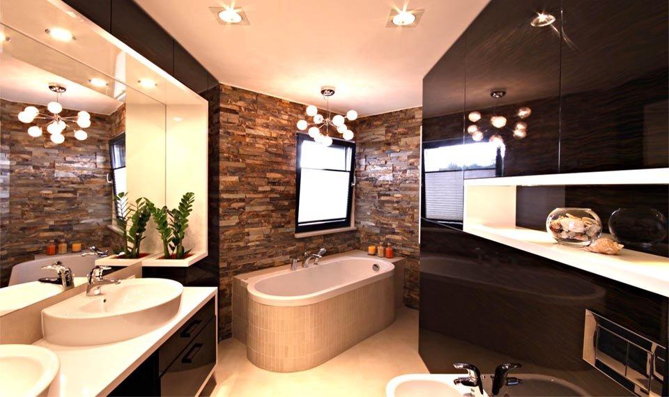 Projekt wnętrza - łazienka przy sypialnia widok 2 (zdjęcie)