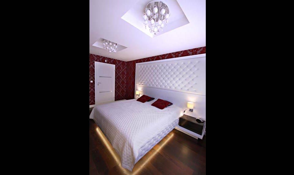 Projekt wnętrza - sypialnia widok 2 (zdjęcie)