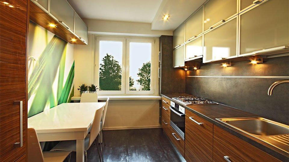 kuchnia 10m2  w Kleosinie po wykonaniu projektu (zdjęcie)