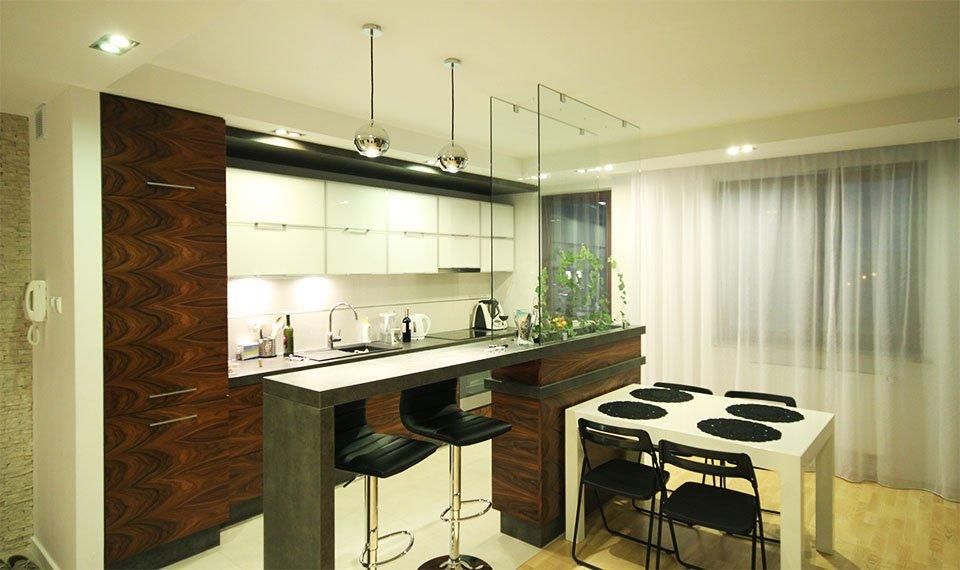 Projekt wnętrza kuchni i jadalni widok 2 (zdjęcie)