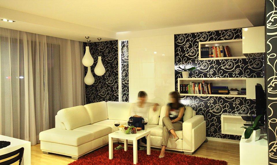 Projekt wnętrza salonu widok 2 (zdjęcie)