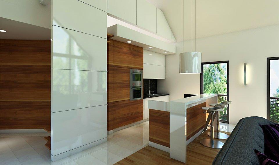 Wizualizacja 3d wnętrza – kuchnia