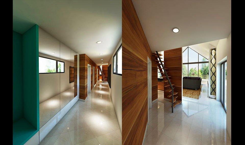 Wizualizacja 3d wnętrza – korytarz